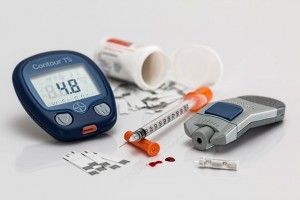 Over diabetes type 1: meter, meetstrips en insulinespuit