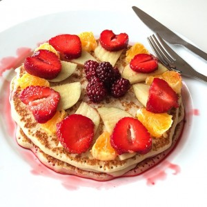 Pannenkoek en diabetes type 2 met fruit