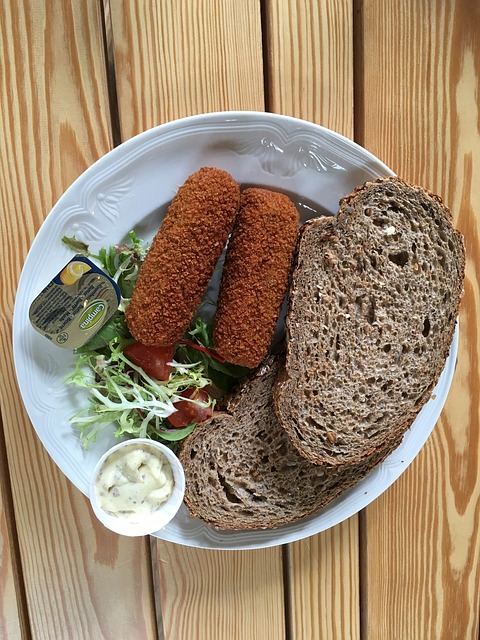 kroket met brood, dubbelop koolhydraten